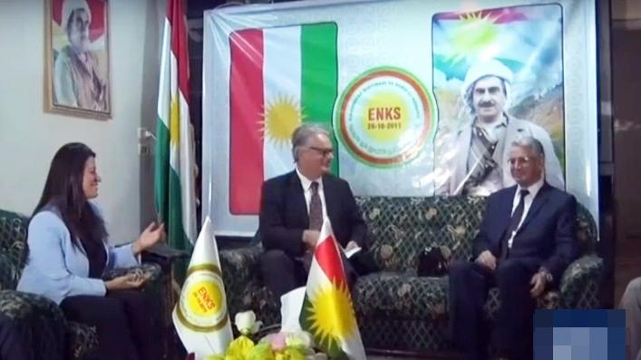 Qamişlo | Şanda Swêd bi ENKSê re civiya û piştgirî da dîyaloga Kurdî-Kurdî