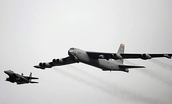 2 balafirên B-52 yên Amerîkî ji ser Îsraîlê ve derbasî Kendava Besrayê bûn