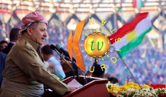 Serok Barzanî salvegera damezrandina Kurdistan TV pîroz kir