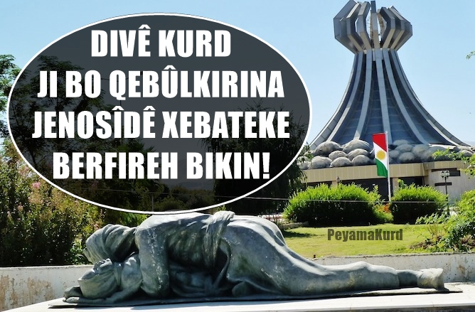 """Divê dinya """"Jenosîda Kurdan"""" qebûl bike!"""
