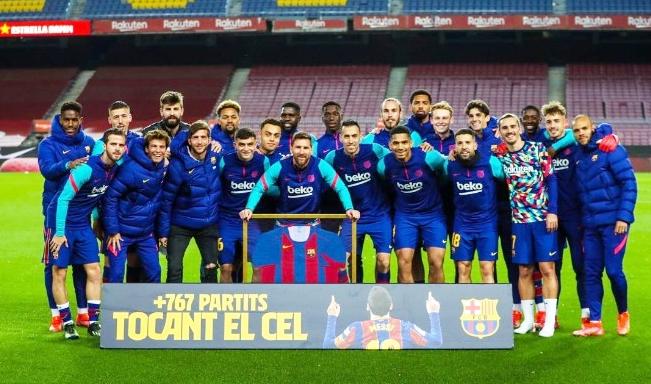 Piştî şikandina rekorê FC Barcelonayê rêz li Lionel Messî girt