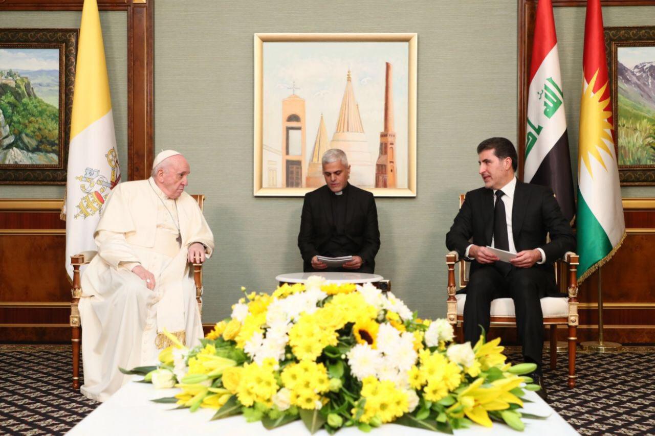 Nêçîrvan Barzanî: Şerefmend im ku pêşwaziya Papa Francis dikim