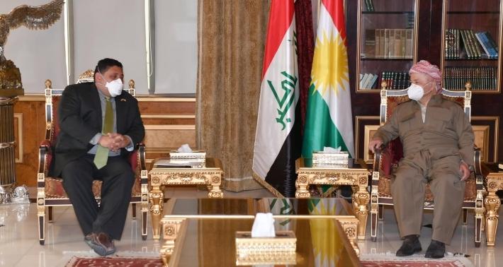 Serok Barzanî û Browstein li ser rêkeftina Kurdên Sûriyê axivîn
