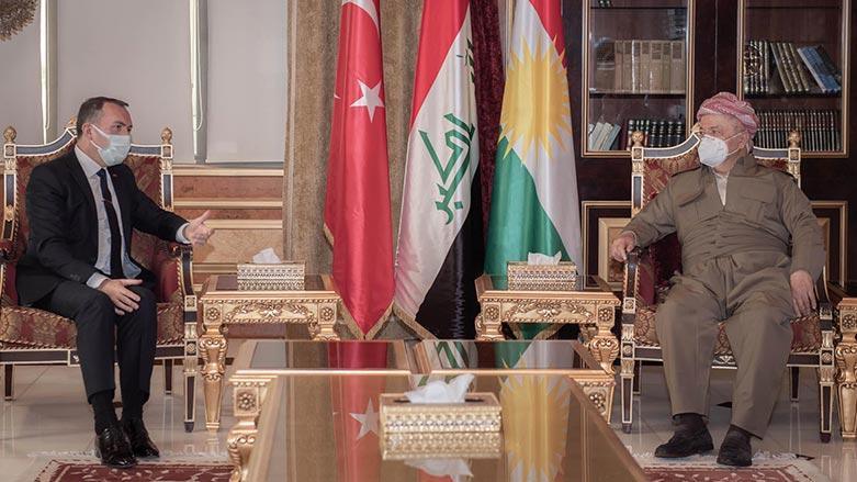 Serok Barzanî pêşwazî li Balyozê Tirkiyê yê Iraqê kir