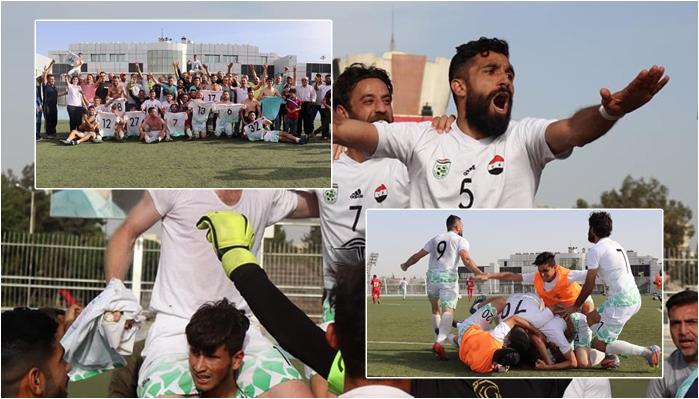 Tîma futbolê ya Efrînê derket lîga super a Sûriyê