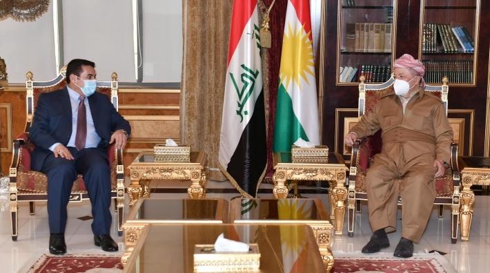 Serok Barzanî pêşwazî li şanda ewlehiya Iraqê kir