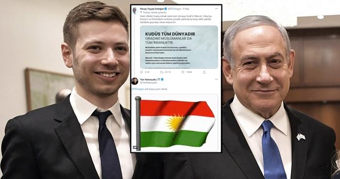 Kurê Netanyahû bi 'Ala Kurdistanê' bersiva Erdogan da!