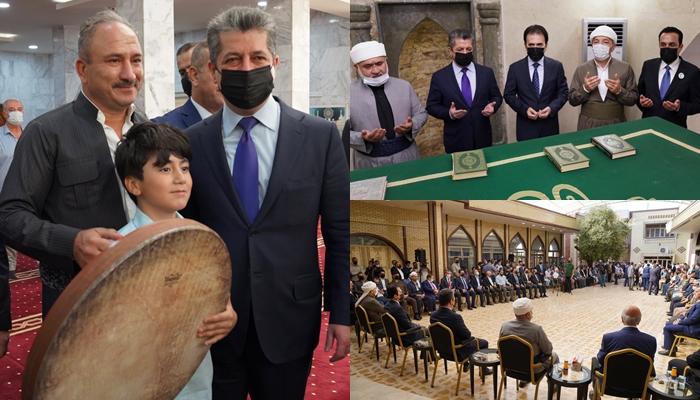 Serokwezîr Barzanî li mizgefta Şêxê Çolî beşdarî merasîma Mewlûda Pêxemberê Îslamê bû