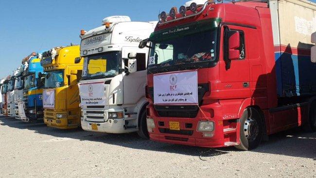 Barzani Vakfı'ndan Rojava'ya 40 kamyonluk yardım