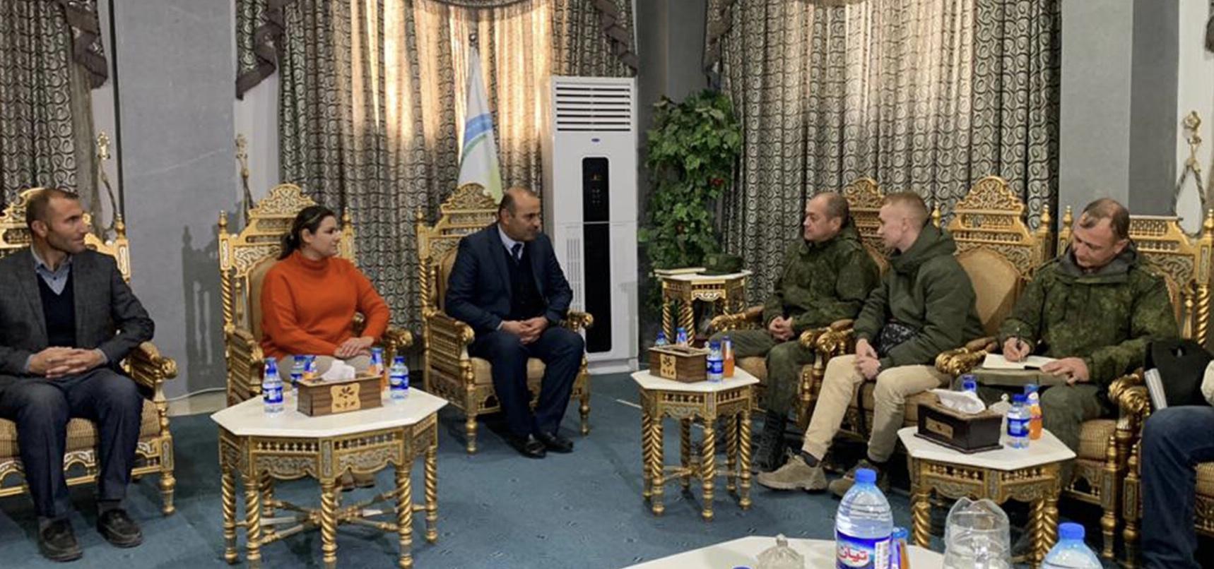 Rus kanadından Kobane'ye ilk resmi ziyaret