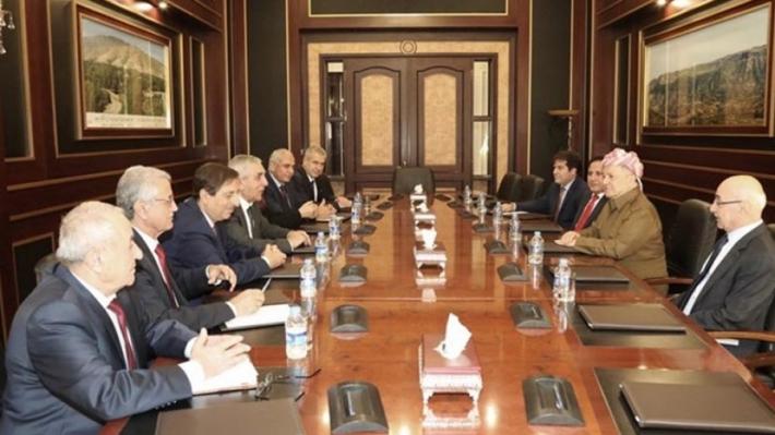Başkan Barzani ENKS ile Rojava'yı görüştü