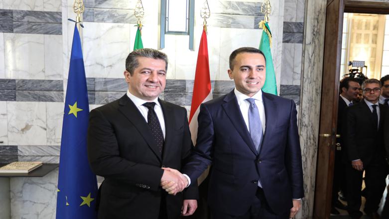Başbakan Barzani, İtalya Dışişleri Bakanı ile görüştü