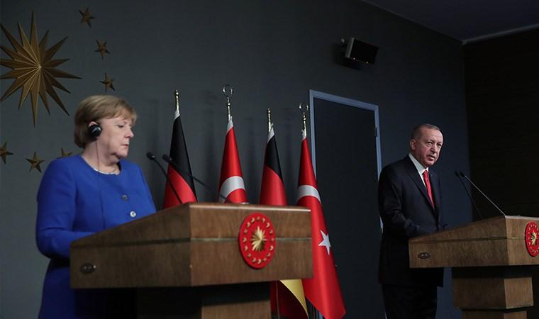 Erdoğan ve Merkel'den ortak açıklama: Irak, İran ve Libya gündemde