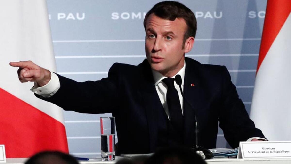 Macron'dan Türkiye'ye Libya uyarısı: Savaşçı gönderme...