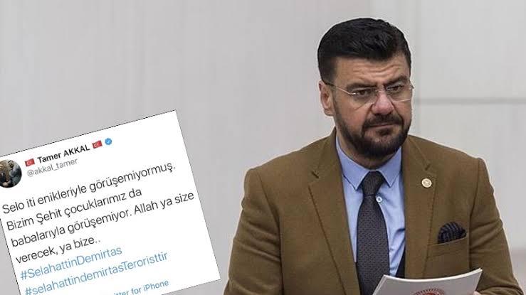 Demirtaş ve çocuklarına hakaret eden AKP'li Akkal'dan açıklama