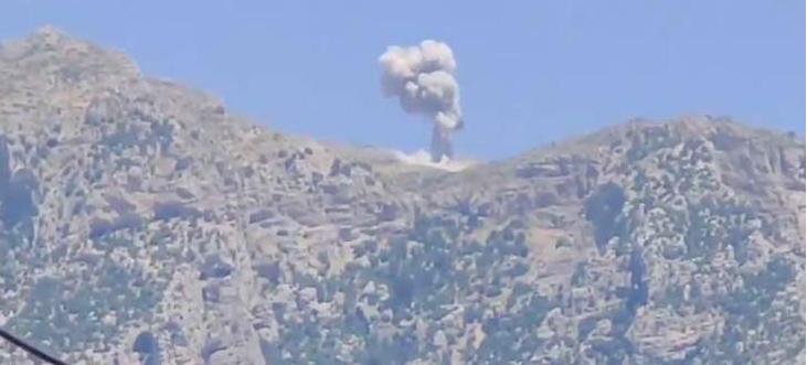 Türk uçakları Dereluk ve Şeladize sınırlarını bombaladı