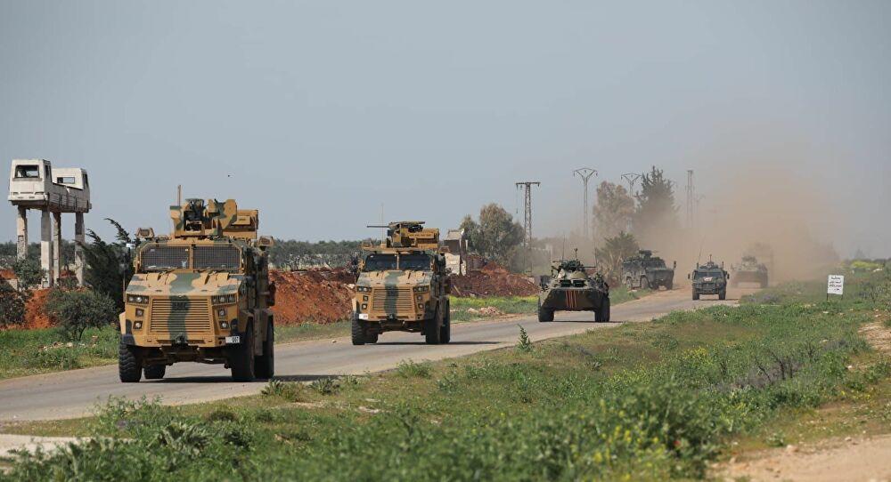 Kobani'de Rus-Türk devriyesi
