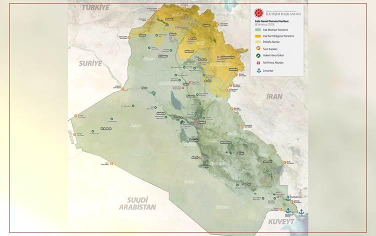 Operasyon haritasında Kürdistan Bölgesi'nin ayrı göstermesine İYİ Parti'den sert tepki