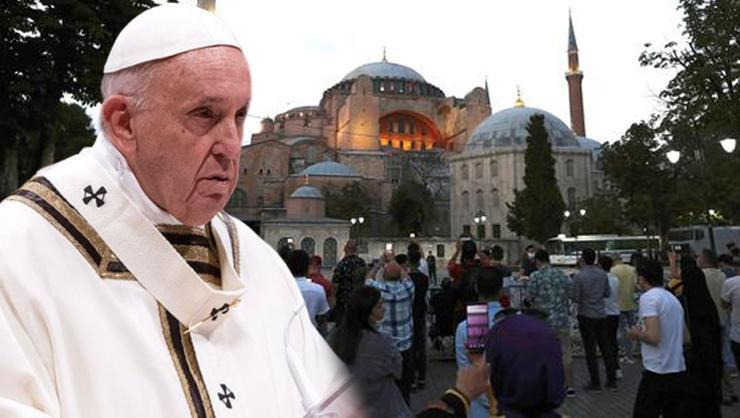 Papa'dan Ayasofya'ya ilişkin ilk açıklama