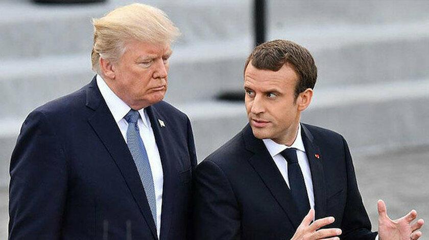 Macron ve Trump Akdeniz için görüştü: Aynı görüşteyiz
