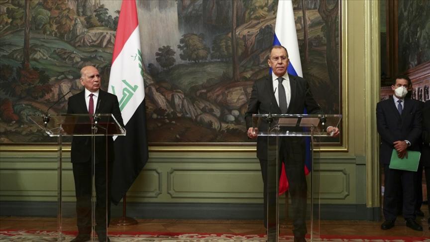 Irak Dışişleri Bakanı Moskova'da Lavrov'la görüştü
