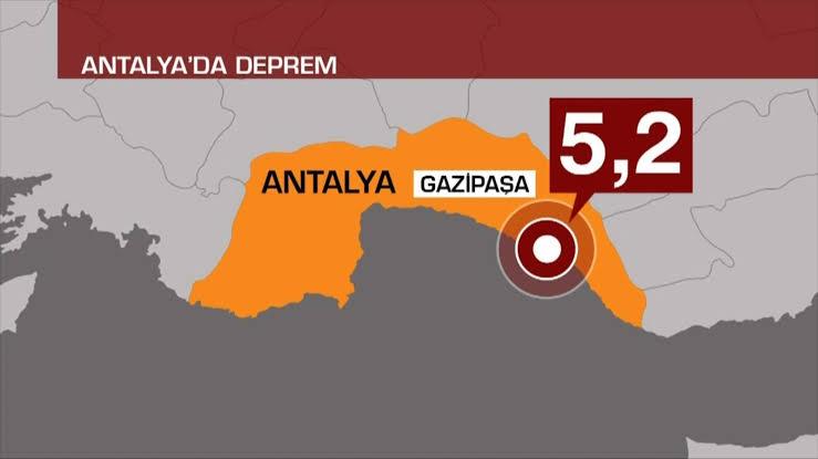 Antalya'da deprem: 5.2 çevre illerden de hissedildi!