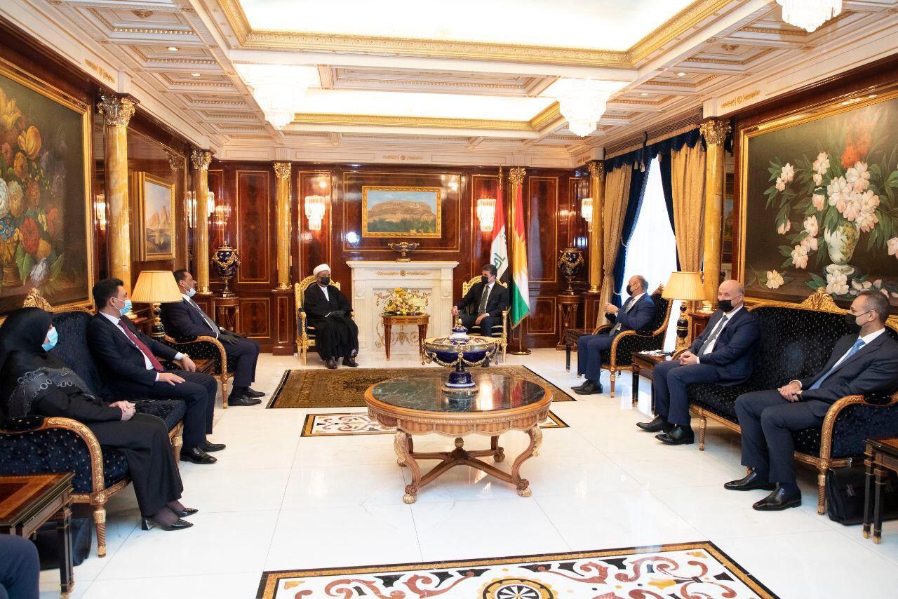 Erbil-Bağdat | Neçirvan Barzani heyetlerle ayrı ayrı görüştü