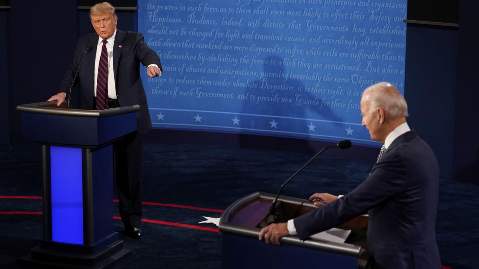 Trump ve Biden tartışması: İşte o kaotik gece ve yaşananlar!