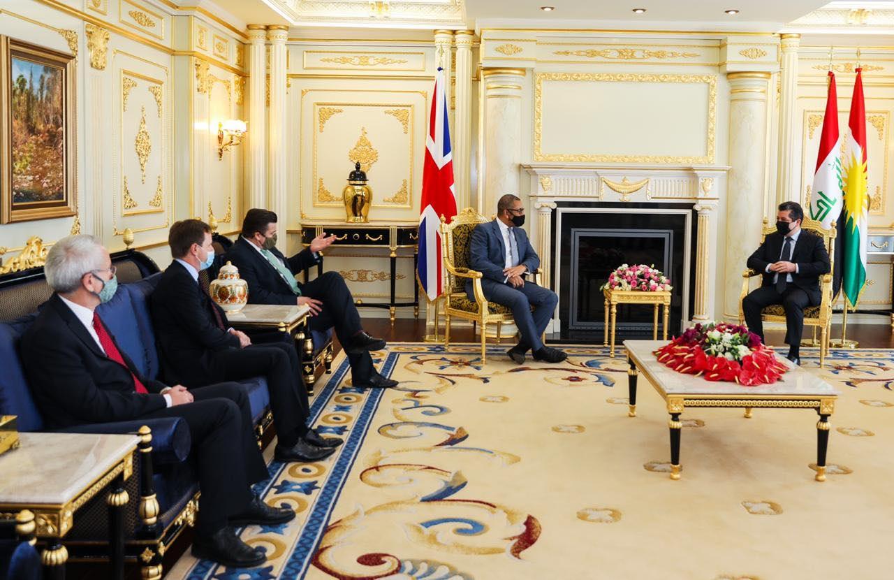 Mesrur Barzani üst düzey İngiliz heyetini kabul etti