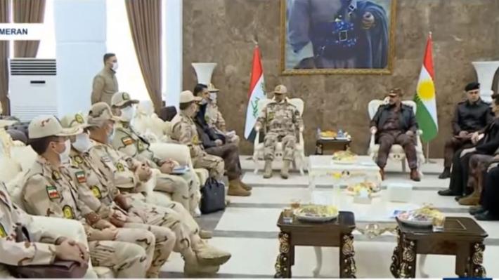 Irak ve İran sınır muhafızları bir araya geldi