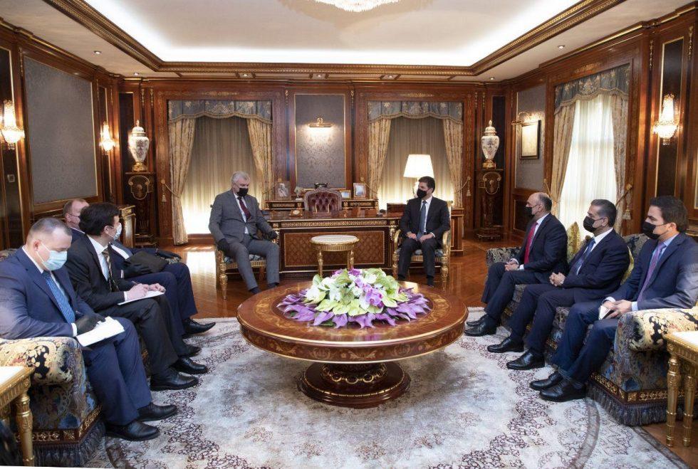Neçirvan Barzani, Rus heyetle bir araya geldi