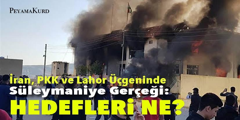 """""""Şengal Anlaşması ve zamanlaması manidar Süleymaniye olayları"""""""
