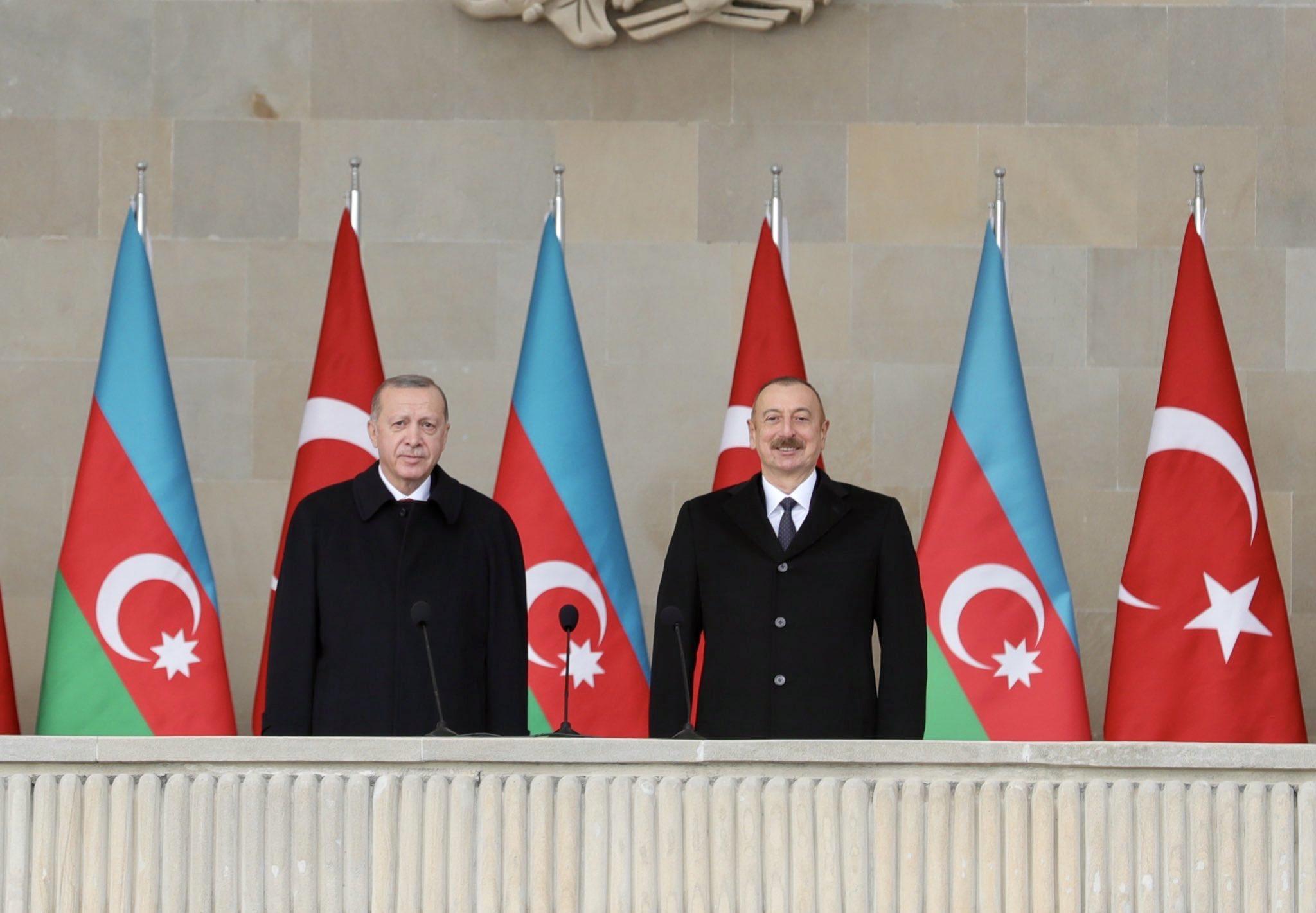 Erdoğan Azerbaycan'da konuştu: Farklı cephelerde devam edecek