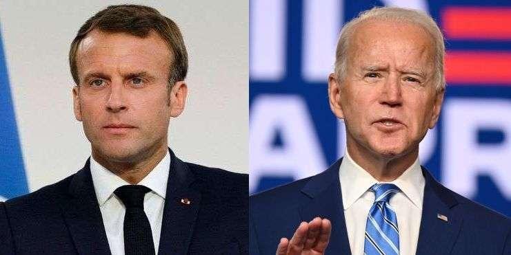 Biden, Macron ile görüştü!