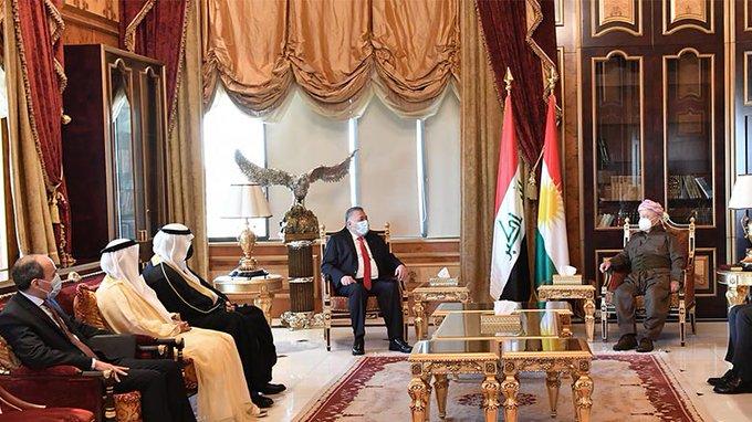 Arap ülkelerinin temsilcilerinden oluşan bir heyet Başkan Barzani ile görüştü!