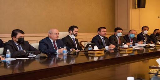 Erbil heyeti, Irak Parlamento Başkanlığı ile görüştü