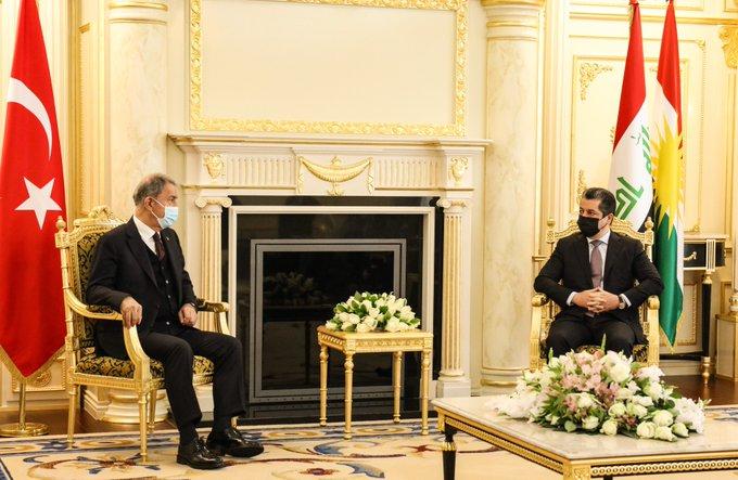 Mesrur Barzani: Hulusi Akar'ı ağırlamaktan memnuniyet duyduk