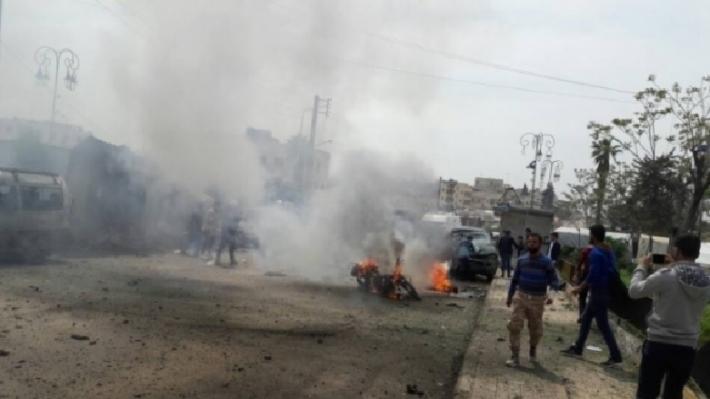 Azez'de bomba yüklü araçla saldırı!