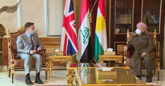Başkan Barzani, İngiliz Büyükelçi ile bir araya geldi
