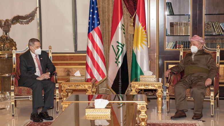 Başkan Barzani, ABD'nin Bağdat Büyükelçisi ile bir araya geldi