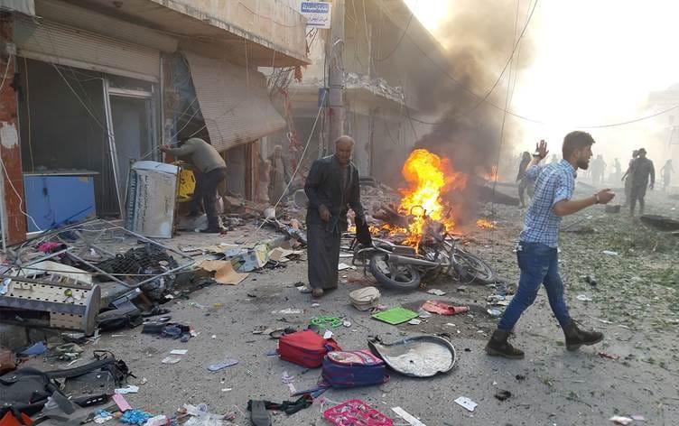Gire Spi'de bombalı saldırı!