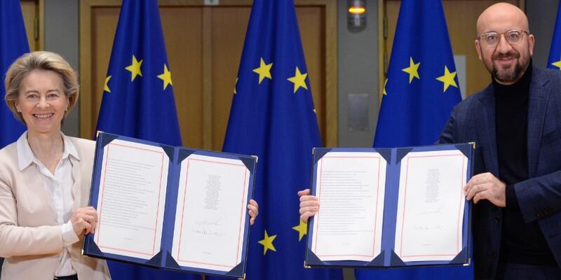 AB ile İngiltere arasında ticaret anlaşması imzalandı!