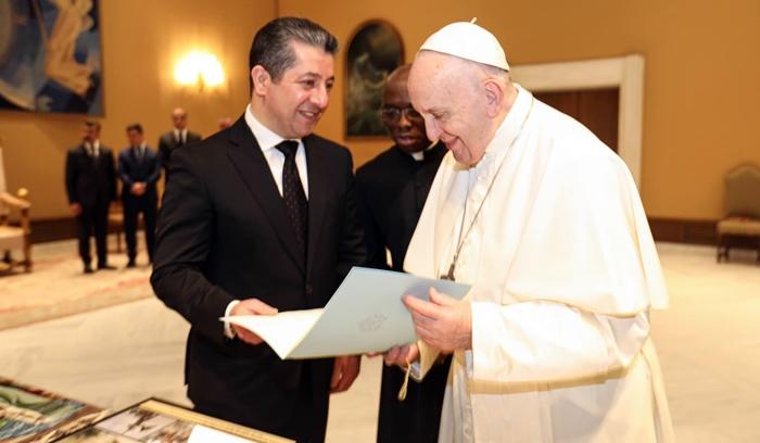 Mesrur Barzani: Papa'nın ziyaretini dört gözle bekliyorum