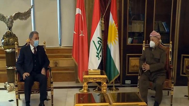 Başkan Barzani, Hulusi Akar'la bir araya geldi!
