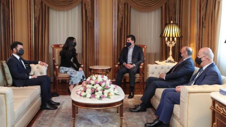 Neçirvan Barzani, Nobel Barış Ödülü sahibi Nadia Murad'ı kabul etti