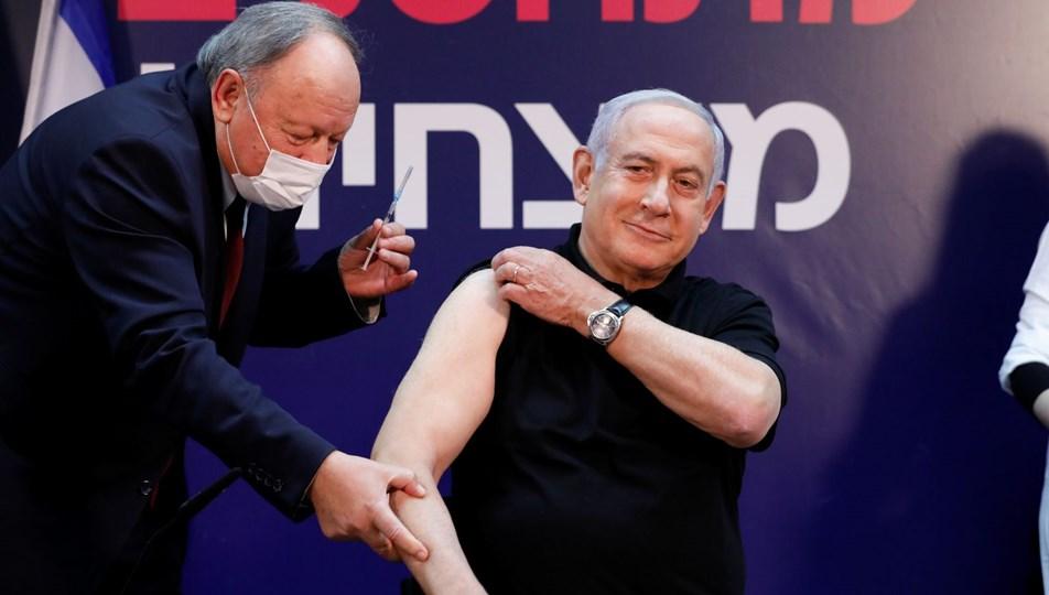 Netanyahu canlı yayında Kovid-19 aşısı oldu