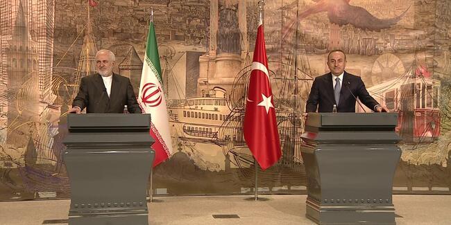 İstanbul'da bir araya gelen Çavuşoğlu ve Zarif'ten önemli açıklamalar!