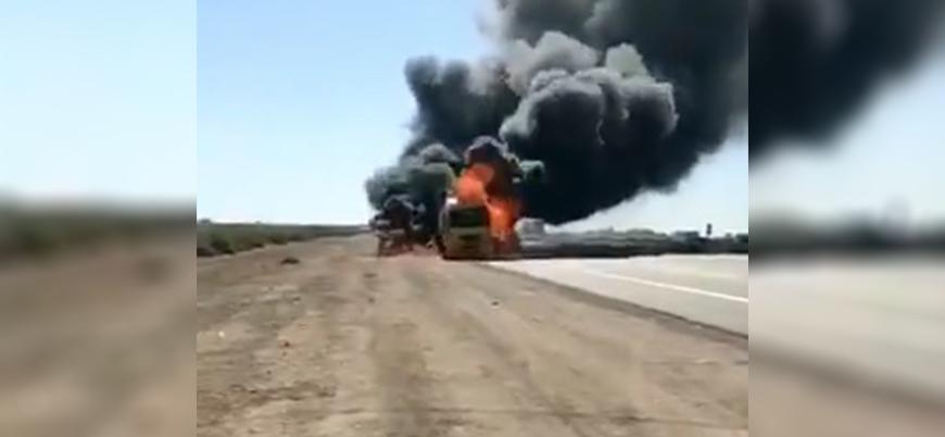 Irak  ABD lojistik konvoyuna saldırı
