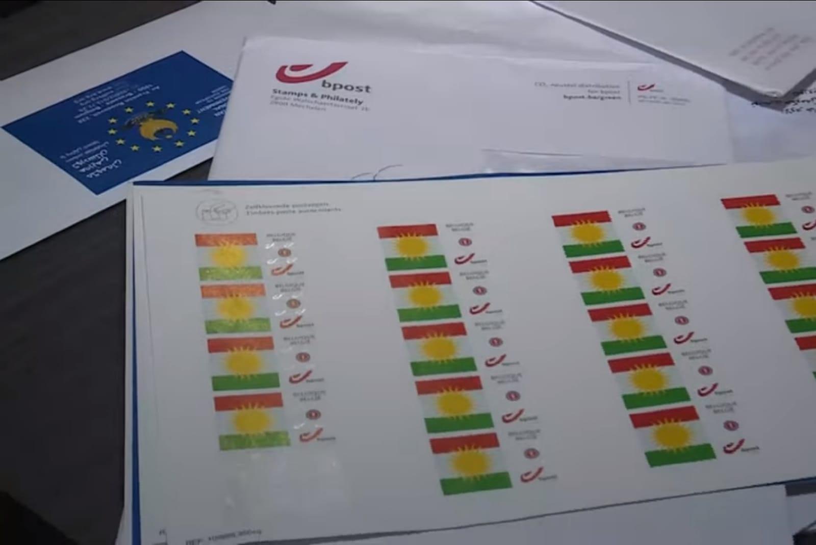Belçika Post, Kürdistan bayraklı pulların basımına onay verdi!