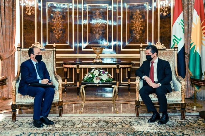 Başbakan Mesrur Barzani, Osman Baydemir ile görüştü